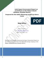 Mammal studies for Addax Bioenergy project in Sierra Leone by Abdulai Conteh