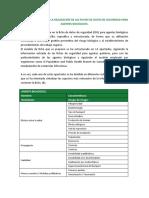 Anexo 9. Modelo ficha de datos de seguridad para agentes biológicos