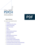 RCPsych Roll Of Honour _ March 2011