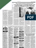 1987-11-21 - Gibert Presenta Una Piedra Como Prueba de Sus Tesis