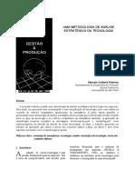 UMA METODOLOGIA DE ANÁLISE ESTRATÉGICA DA TECNOLOGIA