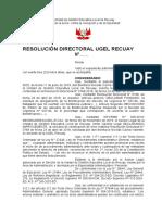 RESOLUCION DIRECTORAL - BONIFACIO NICOLAS