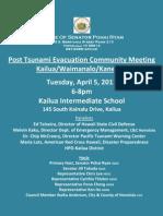 Tsunami Meeting Flyer