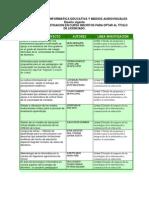 Trabajos de Grado y Líneas de investigación