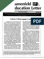 The Blumnefeld Education Letter November 1991