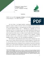 Universidade Federal Da Fronteira Sul - Resenha - Ccr Ideologia e Linguagem