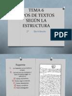 TIPOS DE TEXTOS (Segun su estructura)