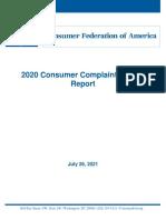 Top 2020 Consumer Complaints Report