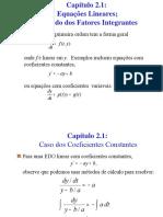 Equações Diferenciais Ordinárias de 1ª Ordem
