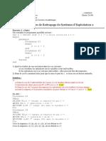 Corrigé de l'Examen de Rattrapage de Systèmes d'Exploitation 2