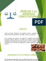DERECHO Y JERARQUIA CONSTITUCIONAL