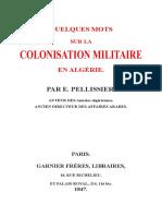 COLONISATION MILITAIRE EN ALGÉRIE