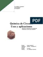 Trabajo Quimica Del Circonio Usos y Aplicaciones