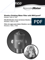 (Kinetico)7000-7500DrinkingWaterFilterownersmanual