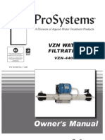 Aquion Prosystems Ultra Filter Manual