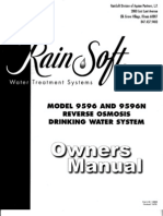 Rainsoft 95-96n reverse osmosis owners manual