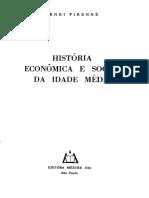 Henri Pirenne - História Econômica e Social da Idade Média