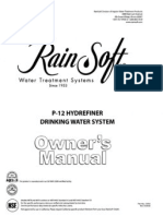 Rainsoft P-12 manual