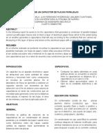 FISICA III. ANALISIS DE UN CAPACITOR