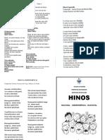 FOLHETO HINO NACIONAL