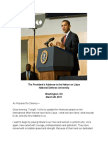 Barack Obama Remarks on Action in Libya