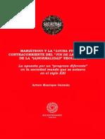 """MARIÁTEGUI Y LA """"LUCHA FINAL"""", A CONTRACORRIENTE DEL """"FIN DE LA HISTORIA"""" Y DE LA """"(A)NORMALIDAD"""" NEOLIBERAL"""