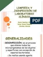 LIMPIEZA Y DESINFECCIÓN DE LABORATORIO CLÍNICO