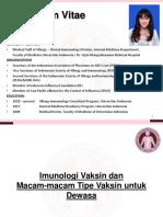 03-Imunologi Vaksin dan Macam-macam vaksin untuk Dewasa - dr Suzy