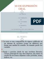 FORMAS DE EXPRESIÓN ORAL