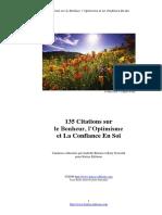 135 citations sur le Bonheur, l'Optimisme et La Confiance En Soi