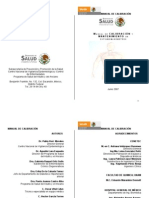 Manual de calibración y mantenimiento de esfigmomanómetro