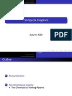 Computer Graphics 2-Dimensional Concepts