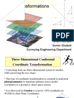 Computer Graphics - 3-Dimensional Transformations - Applied to Surveying