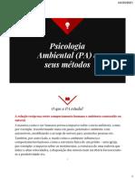Psicologia Ambiental (PA) e seus métodos