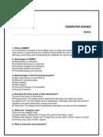Database Management - Dbms Question Bank