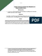 Esquisses de Corrigés d'Exercice de Droit Des Obligations Et Responsabilité Civile