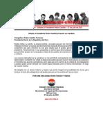 27jul2021 - Secretario General - Saludo al Presidente Pedro Castillo al asumir su mandato