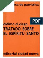 36. DIDIMO EL CIEGO - Tratado Sobre El Espiritu Santo