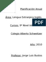 Planificacion anual 9 Ingles 2010