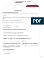 Annales gratuites bac 1999 Mathématiques _ Courbe paramétrée