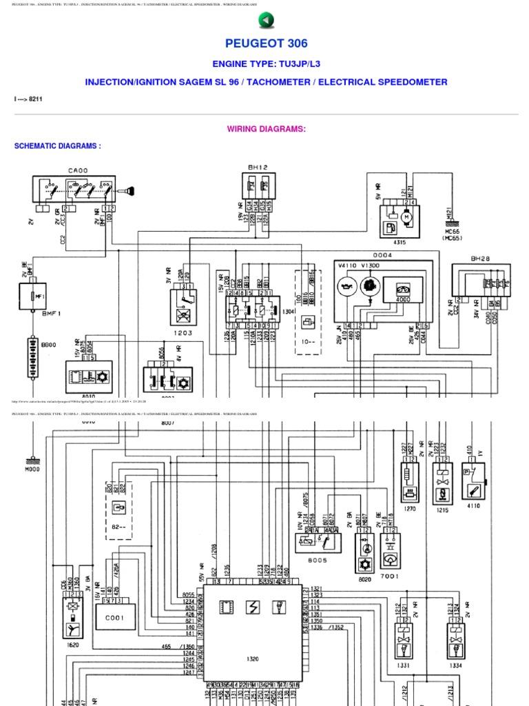 peugeot 306 wiring diagrams rh es scribd com