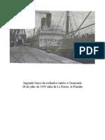 Flandre Segundo Barco de Exiliados Vascios a Venezuela 28 Julio 1939