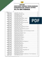 SK Pemeliharaan PLTU Batubara