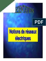 Notions de réseaux  electriques