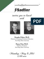 Lunch with Douglas Fisher & Nancy Frey