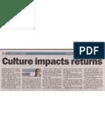 Culture Impacts Returns