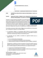 Circular Dispositiva 002 Instrucciones Contratación Contratistas