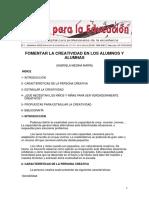 10. Fomentar La Creatividad en Los Alumnos y Alumnas Autor Gabriela Medina Marín