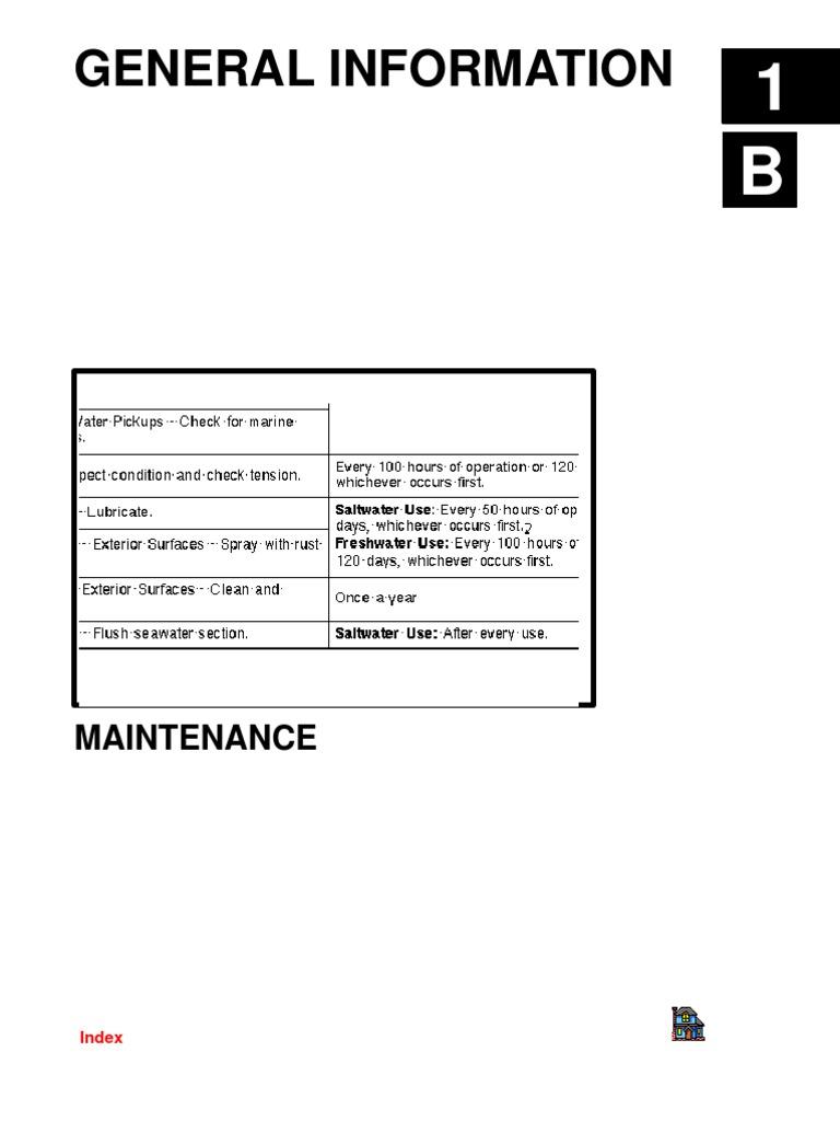 Mercruiser Service Manual 6-1b - Maintenance   Battery (Electricity)    Bearing (Mechanical)