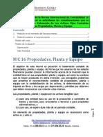 Resumen técnico  de la NIC 16